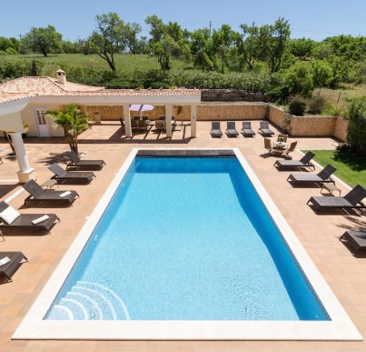 The pool and pool terraces